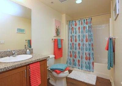 Bathroom of an Apartment at Paseo Place