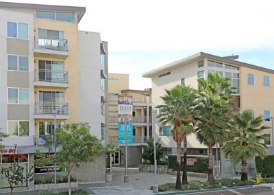 Exterior View of Paseo Place Apartments in San Diego