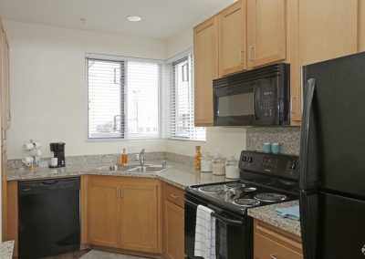 Spacious Kitchen of an Apartment at Paseo Place