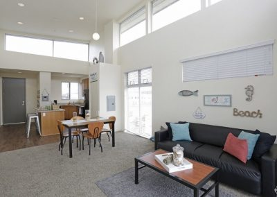 Living Room, Dining Room and Kitchen at Paseo Place